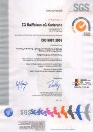 Zertifikat ISO 9001 (PDF, 1.9 MB) - ZG Raiffeisen