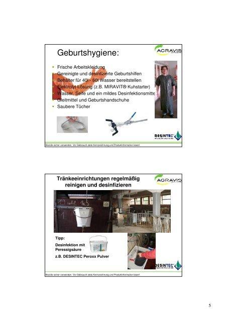 Hygiene in der  Kälberaufzucht - RKW Kehl