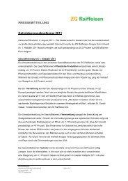 Pressemitteilung Getreide-Pressekonferenz ... - ZG Raiffeisen