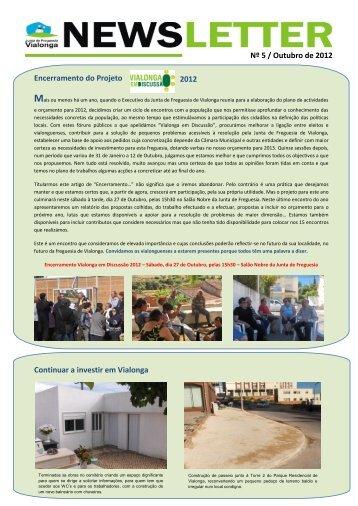Newsletter nº 2 de Outubro de 2012 - Junta de Freguesia de Vialonga