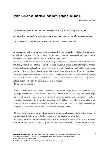 Hablar en clase.pdf - Uruguay Educa