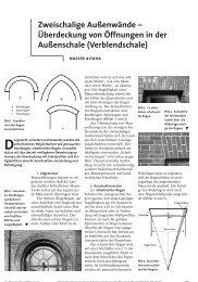 Zweischalige Außenwände – Überdeckung von Öffnungen in der ...