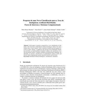 Proposta de uma Nova Classificação para a Área de ... - PCS - USP