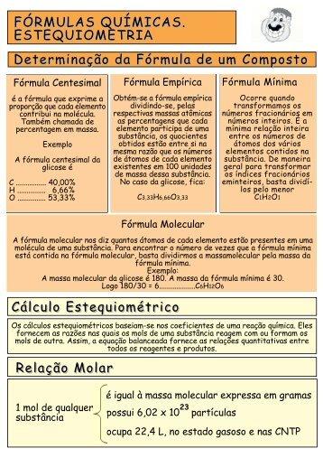 FÓRMULAS QUÍMICAS. ESTEQUIOMETRIA Cálculo ...