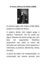 A Teoria atômica de Dalton - Sagrado - Rede de Educação