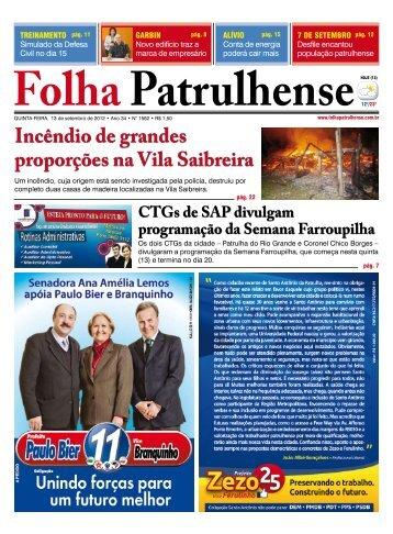 Incêndio de grandes proporções na Vila Saibreira - Folha Patrulhense