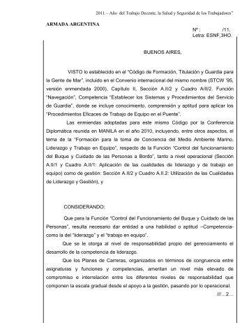 ARMADA ARGENTINA N° - Escuela Nacional Fluvial