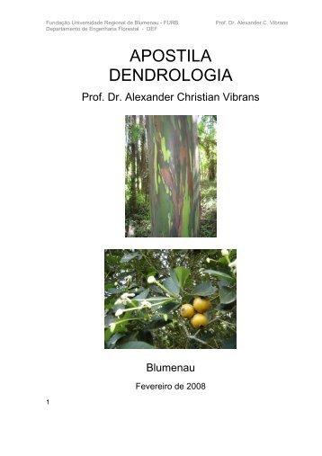 Manual de Dendrologia - Fernando Santiago dos Santos