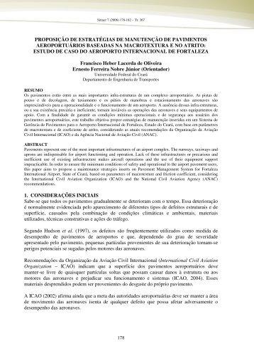 proposição de estratégias de manutenção de pavimentos - TGL