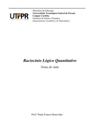 Raciocínio Lógico Quantitativo - UTFPR