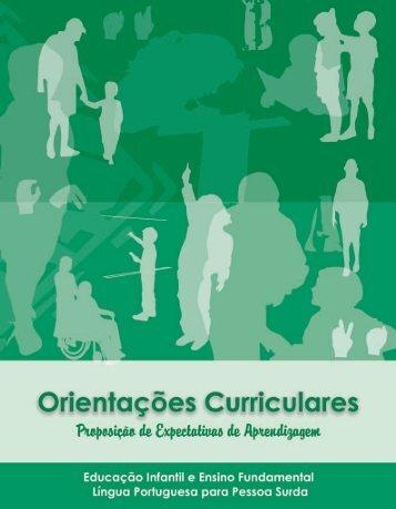 ORIENTAÇÕES CURRICULARES Proposição de Expectativas de ...