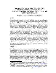 Proposição De Modelo Sistêmico De Engenharia Financeira Para