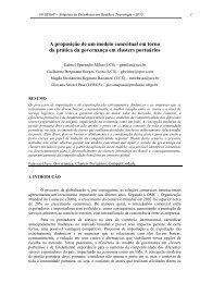 A proposição de um modelo conceitual em torno da prática ... - aedb