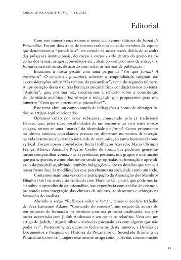 Editorial - PePSIC