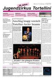 Jugendzirkus Tortellini - Werkstatt für Theater