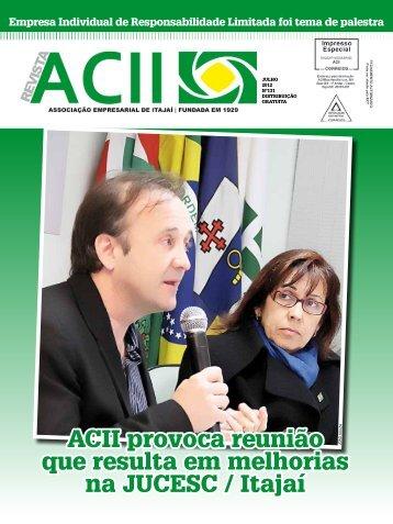 ACII provoca reunião que resulta em melhorias na JUCESC / Itajaí