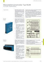 Messstellenumschalter Typ MUM - Ziehl industrie-elektronik GmbH ...