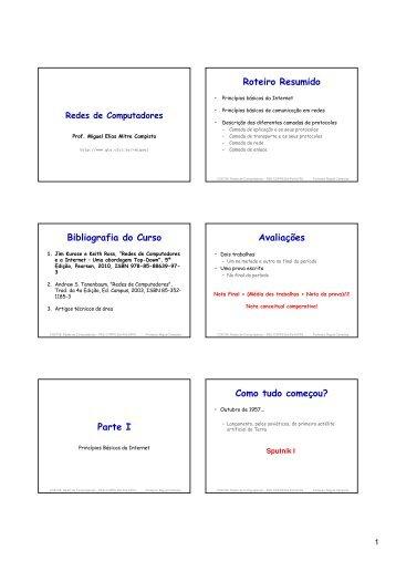 Roteiro Resumido Bibliografia do Curso Avaliações ... - GTA - UFRJ