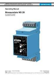 Niveaurelais NS 20 - Ziehl industrie-elektronik GmbH + Co KG