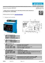 Quick Guide SW32V - Ziehl industrie-elektronik GmbH + Co KG