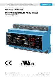 Pt 100 temperature relay TR600 - Ziehl industrie-elektronik GmbH + ...