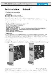 Betriebsanleitung Minipan E - Ziehl industrie-elektronik GmbH + Co ...