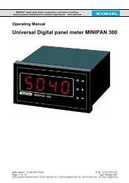 Universal Digital panel meter MINIPAN 300 - ziehl.de