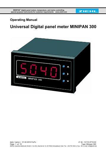 2 Inch Digital Panel Meter : Diy kit ½ digit lcd digital panel meter paia