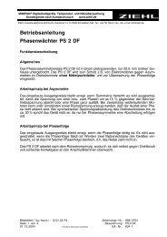 Betriebsanleitung Phasenwächter PS 2 DF - ziehl.de
