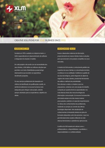 Inovar e desenvolver sistemas de informação ... - XLM