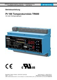 Pt 100 Temperaturrelais TR600 - Ziehl industrie-elektronik GmbH + ...