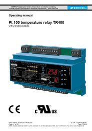 Pt 100 temperature relay TR400 - Ziehl industrie-elektronik GmbH + ...