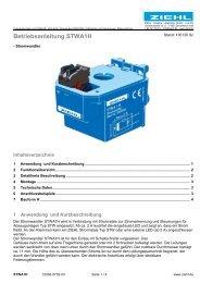 Betriebsanleitung STWA1H - Ziehl industrie-elektronik GmbH + Co KG