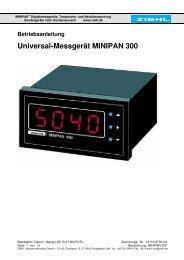 Betriebsanleitung Universal-Messgerät MINIPAN 300 - ziehl.de