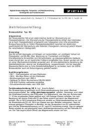B e t r i e b s a n l e i t u n g - Ziehl industrie-elektronik GmbH + Co KG
