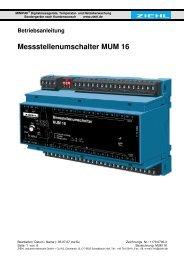Messstellenumschalter MUM 16 - Ziehl industrie-elektronik GmbH + ...