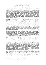 O Ministério Público e o Custo Brasil Jerson Kelman Dois ...