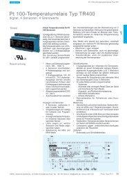 Pt 100-Temperaturrelais Typ TR400