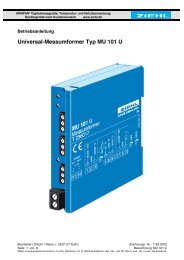 MU 101 U - Ziehl industrie-elektronik GmbH + Co KG
