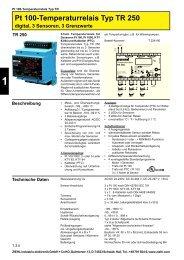 Pt 100-Temperaturrelais Typ TR 250 - Ziehl industrie-elektronik ...