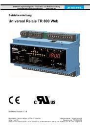 Universal Relais TR 800 Web - Ziehl industrie-elektronik GmbH + ...