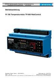 Betriebsanleitung Pt 100 Temperaturrelais TR 600 ... - ziehl.de