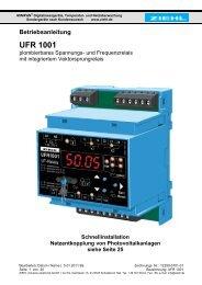 Betriebsanleitung UFR 1001 - Ziehl industrie-elektronik GmbH + Co ...