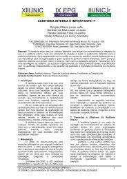 AUDITORIA INTERNA É IMPORTANTE !? - INIC