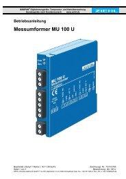 Betriebsanleitung Messumformer MU 100 U - ziehl.de