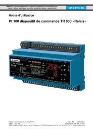 Pt 100 dispositif de commande TR 600 «Relais» - ziehl.de