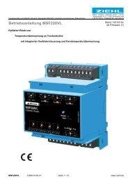 Betriebsanleitung MSF220VL - Ziehl industrie-elektronik GmbH + Co ...