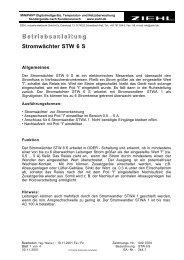 B etriebsanleitung Stromwächter STW 6 S - Ziehl industrie-elektronik ...