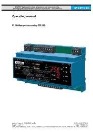 Operating manual - Ziehl industrie-elektronik GmbH + Co KG