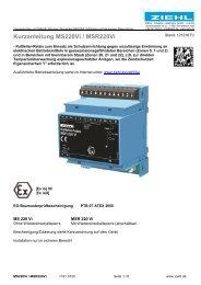 Kurzanleitung MS220Vi / MSR220Vi - Ziehl industrie-elektronik ...